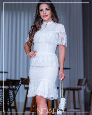 Vestido sino branco | Moda Evangelica e Executiva