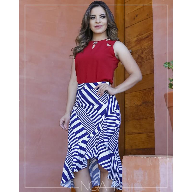 1dd1521d92614 Talita - Conjunto saia e blusinha