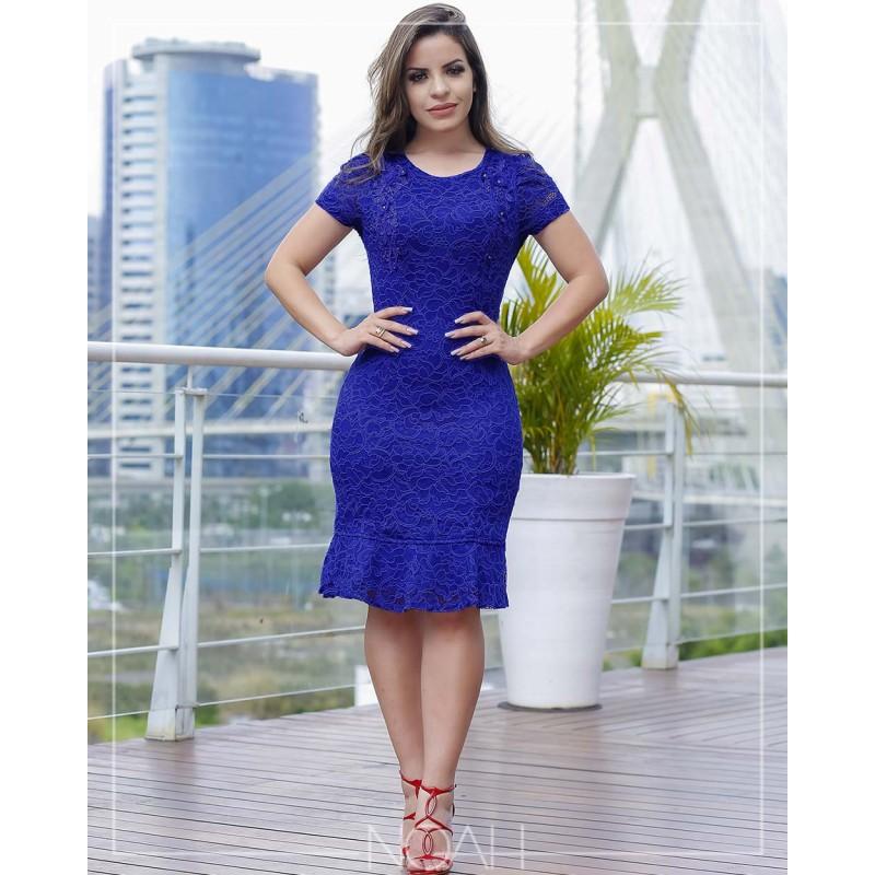 Vestidos na cor azul royal
