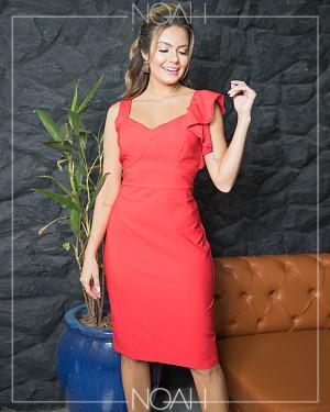 Vestido tubinho vermelho | Moda Evangelica e Executiva